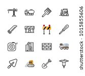 icons architecture. vector... | Shutterstock .eps vector #1015855606