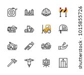 icons architecture. vector dump ... | Shutterstock .eps vector #1015855726