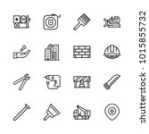 icons architecture. vector... | Shutterstock .eps vector #1015855732