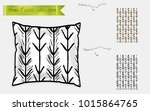 interior design textile... | Shutterstock .eps vector #1015864765