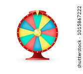 casino equipment  wheel of... | Shutterstock . vector #1015867222