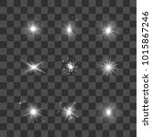 glowing lights  stars and... | Shutterstock . vector #1015867246