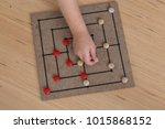 nine stone game for children... | Shutterstock . vector #1015868152