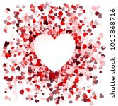 happy valentines day card cover ... | Shutterstock . vector #1015868716