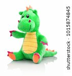 dragon plushie doll isolated on ... | Shutterstock . vector #1015874845