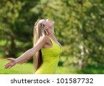 enjoying outdoors | Shutterstock . vector #101587732
