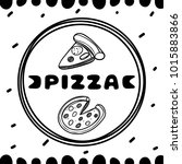 pizza cover for cafe. sketch... | Shutterstock .eps vector #1015883866