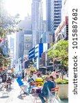 new york city  usa   october 28 ...   Shutterstock . vector #1015887682