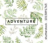 design template for the poster... | Shutterstock .eps vector #1015891765
