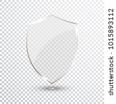 transparent shield. safety... | Shutterstock .eps vector #1015893112