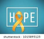 poster for childhood cancer... | Shutterstock .eps vector #1015895125
