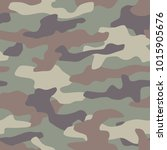 camouflage seamless pattern.... | Shutterstock .eps vector #1015905676
