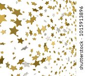 vector background with 3d gold... | Shutterstock .eps vector #1015913896