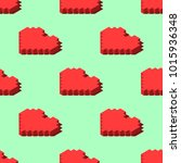 isometric hearts seamless...   Shutterstock .eps vector #1015936348