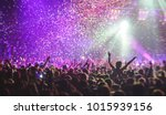a crowded concert hall with... | Shutterstock . vector #1015939156