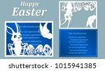 vector illustration. easter... | Shutterstock .eps vector #1015941385