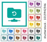 ftp undo flat color icons with... | Shutterstock .eps vector #1015942546