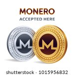 monero. accepted sign emblem.... | Shutterstock .eps vector #1015956832