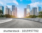 guangzhou city square road and... | Shutterstock . vector #1015957702