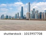 guangzhou city square road and...   Shutterstock . vector #1015957708
