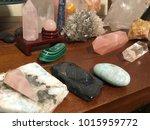 beautiful display of crystals... | Shutterstock . vector #1015959772