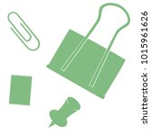 office supplies vector set. ... | Shutterstock .eps vector #1015961626
