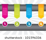special arrow labels with icons ...   Shutterstock .eps vector #101596336