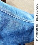 blue pants close up. | Shutterstock . vector #1015967302