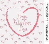 happy valentines day typography ...   Shutterstock .eps vector #1015970212