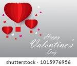 happy valentines day vector... | Shutterstock .eps vector #1015976956