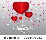 happy valentines day vector... | Shutterstock .eps vector #1015976962