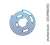 circular logo icon. link icon... | Shutterstock .eps vector #1015986352