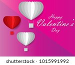 card valentine's day balloon... | Shutterstock .eps vector #1015991992