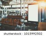 blank white billboard...   Shutterstock . vector #1015992502