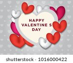 valentines day abstract... | Shutterstock .eps vector #1016000422