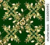 openwork delicate golden... | Shutterstock . vector #1016005492