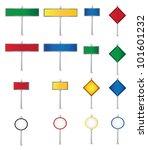 set of road signs vector | Shutterstock .eps vector #101601232