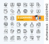 e learning  online education... | Shutterstock .eps vector #1016019442