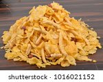 traditional indian corn flakes...   Shutterstock . vector #1016021152