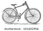 velocipede bicycle  vintage... | Shutterstock .eps vector #101602906