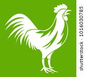 gallic rooster icon white... | Shutterstock .eps vector #1016030785