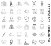 wellbeing icons set. outline... | Shutterstock .eps vector #1016031316