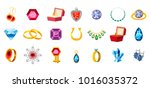 jewerly icon set. cartoon set... | Shutterstock .eps vector #1016035372