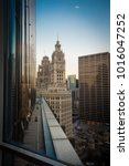 chicago skyline. chicago... | Shutterstock . vector #1016047252