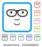 positive nerd face vector... | Shutterstock .eps vector #1016066662