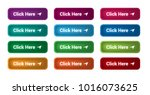 set of 12 isolated web buttons... | Shutterstock .eps vector #1016073625