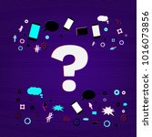 question stylized mark sign on... | Shutterstock .eps vector #1016073856