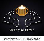 beer man power   funny...   Shutterstock .eps vector #1016075686