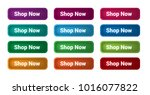set of 12 isolated web buttons... | Shutterstock .eps vector #1016077822