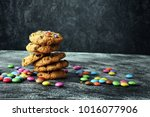 Chocolate Cookies With Colorfu...